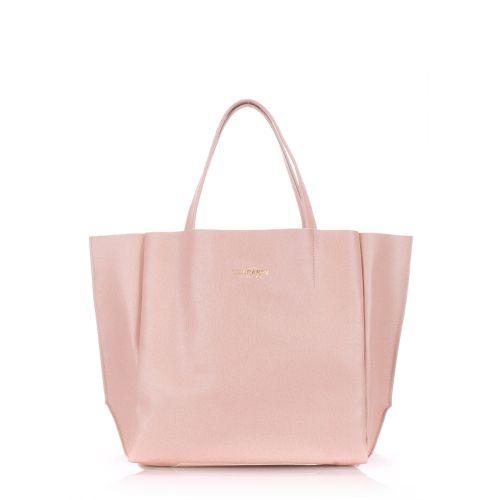 Женская кожаная сумка Poolparty soho-safyan-peach персиковая