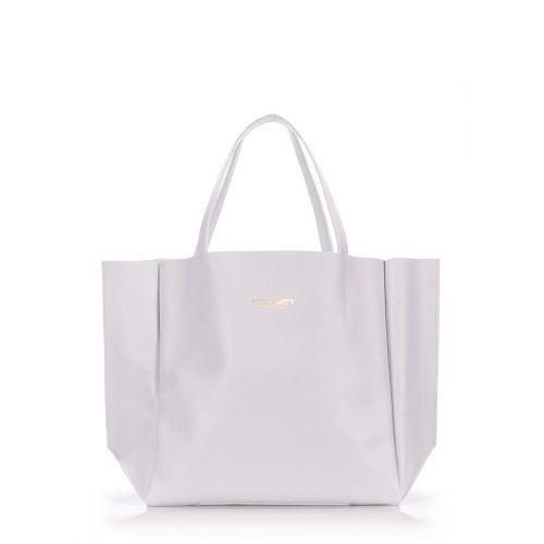 Женская кожаная сумка Poolparty soho-safyan-lightblue голубая