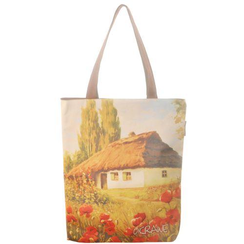 Женская сумка Хата Шевченко коричневая