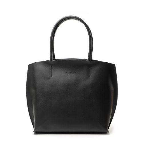 Женская кожаная сумка poolparty-pearl-black черная