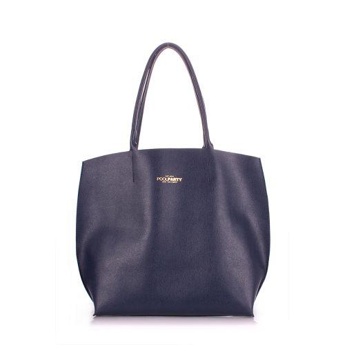 Женская кожаная сумка Poolparty pearl-blue синяя