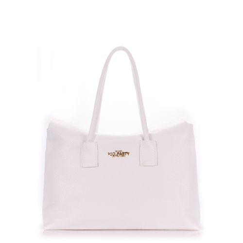 Женская кожаная сумка poolparty-sense-white белая