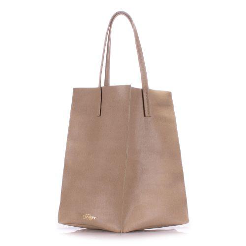 Женская кожаная сумка Poolparty milan-safyan-beige бежевая