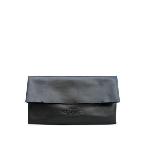 Клатч Poolparty Leather Pouch 2 nite черный