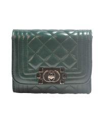Женская сумка Chanel Boy Mini зеленая