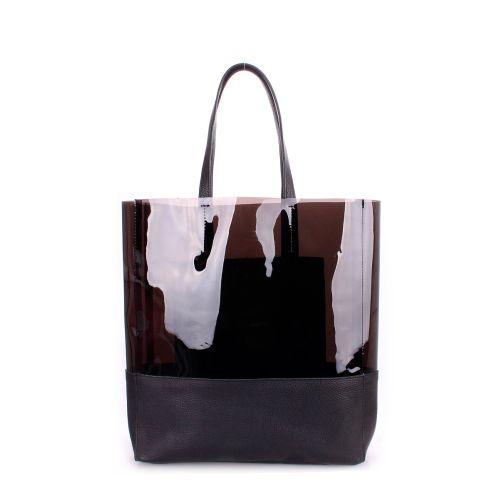 Женская кожаная сумка poolparty-city-carrie-black черная