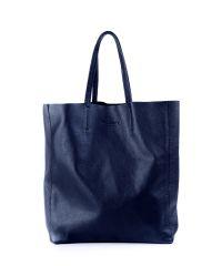 Женская кожаная сумка city-darkblue синяя