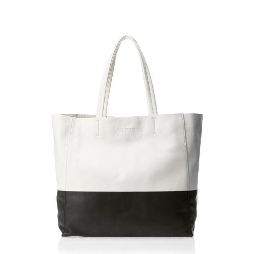 Женская сумка poolparty-devine-white-black кожаная белая с черным