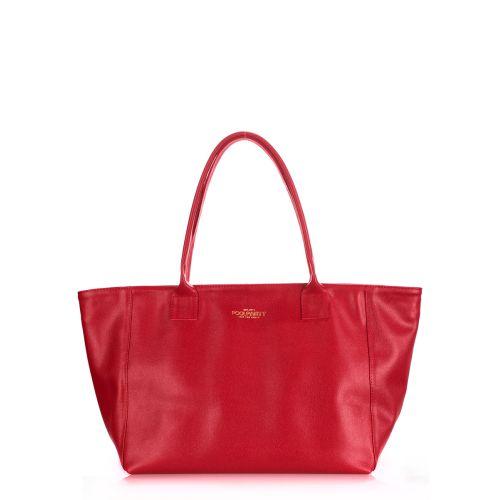 Женская кожаная сумка Poolparty desire-safyan-red красная