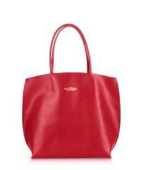 Женская кожаная сумка Poolparty pearl-red красная