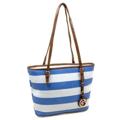 Женская сумка dr. Bond 3-2 9731 бело-синяя