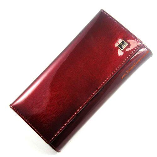 Женский кошелек dr.Bond W46 лак вишневый