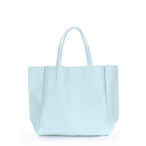 Женская кожаная сумка poolparty-soho-babyblue голубая