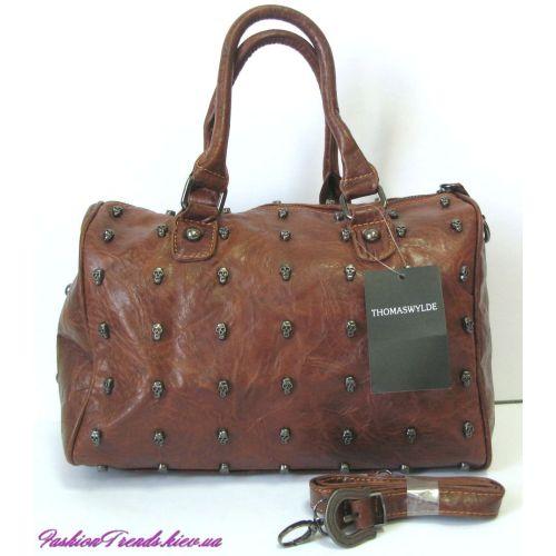 Женская сумка Thomas Wylde Day of The Dead коричневая