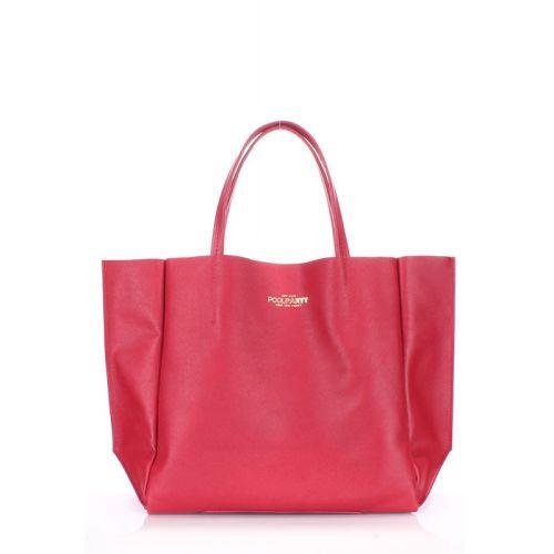 Женская кожаная сумка Poolparty soho-safyan-scarlet красная