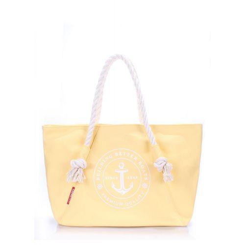Женская летняя сумка PoolParty Breeze желтая