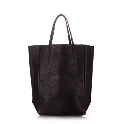 Женская кожаная сумка poolparty-bigsoho-black черная