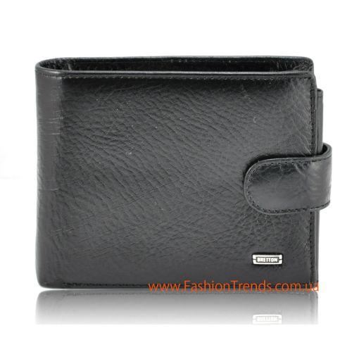Мужской кошелек Europe Bretton M2 кожаный черный