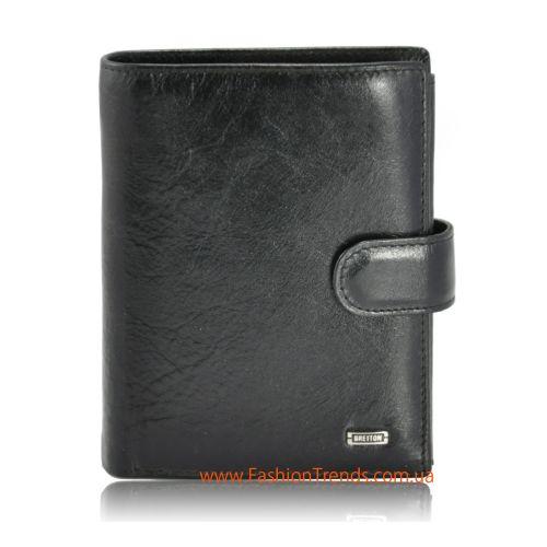 Мужской кошелек Europe Bretton M24 кожаный черный