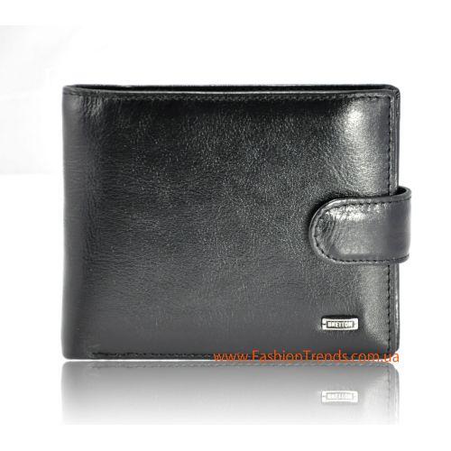 Мужской кошелек Europe Bretton M4 кожаный черный