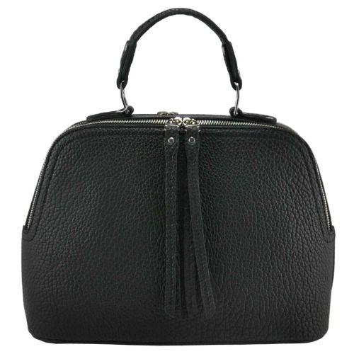 Женская кожаная сумка Блюз черная