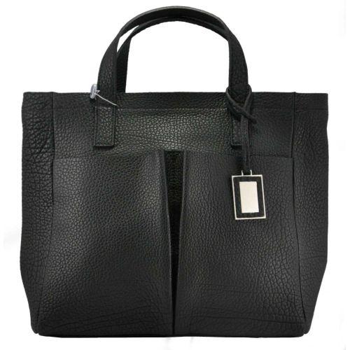 Женская кожаная сумка Велина черная