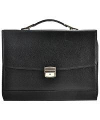 Мужской портфель Dr.Bond 1818-3 черный