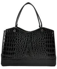 Женская кожаная сумка Мон-Март черная