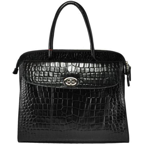 Женская сумка Сенатор кожаная черная