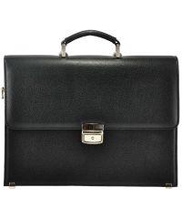 Мужской портфель М48 кожаный черный