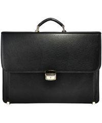 Мужской портфель M39 кожаный черный