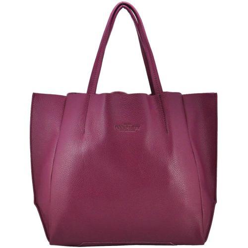 Женская кожаная сумка poolparty-soho-fuchsia фиолетовая