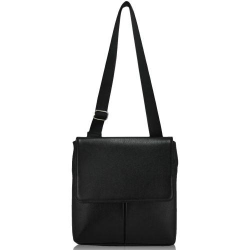 Мужская кожаная сумка черная М72