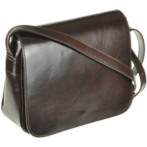 Женская кожаная сумка 2026 шоколадная Италия