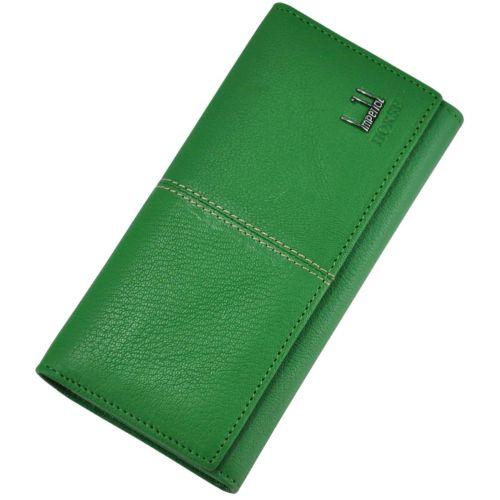 Женский кожаный кошелек A0001-A зеленый