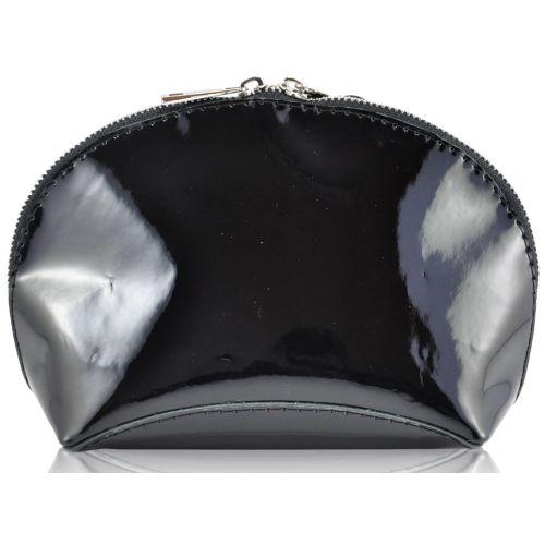 Кожаная косметичка W-03 черная