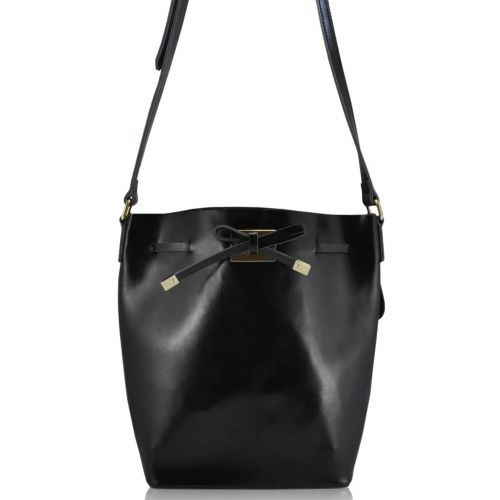 Женская кожаная сумка 3025 черная