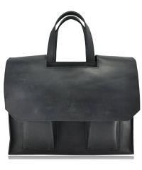 Мужской кожаный портфель M-05 черный
