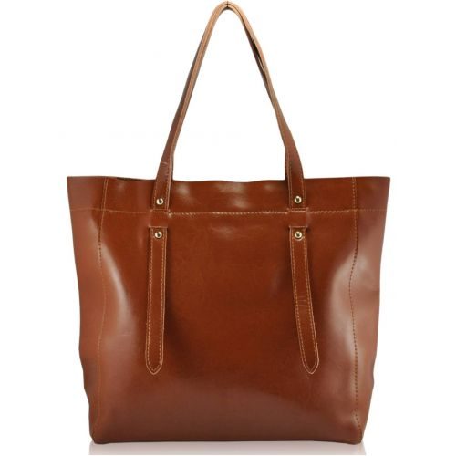 Женская кожаная сумка 8279 рыжая
