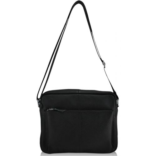 Мужская кожаная сумка 819 черная