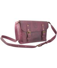 Кожаная сумка Babak Сrossbody 861066 виноградная