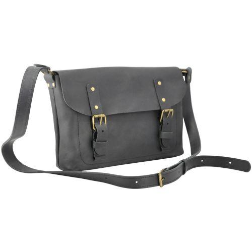 Кожаная сумка Babak Сrossbody 861076 черная