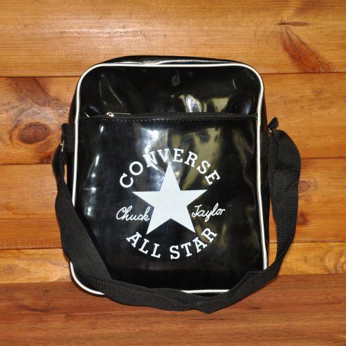 Спортивная сумка через плечо Converse Lack черная с белым