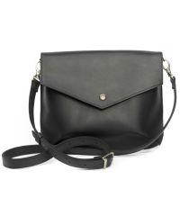 Женская кожаная сумка WELLBAGS Flapbag mini black w014.1 черная