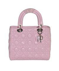 Модная женская сумка Midi Lady Dior Cannage Bag розовая