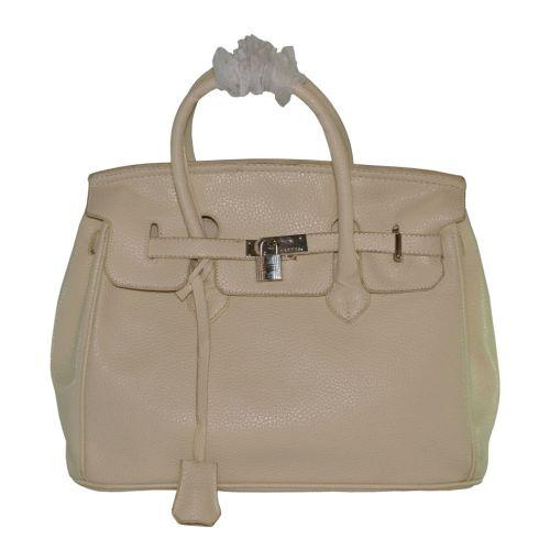 Женская сумка Hermes Birkin 35 см молочная
