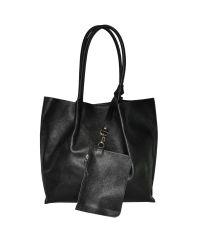Женская сумка из сафьяновой кожи 828 черная