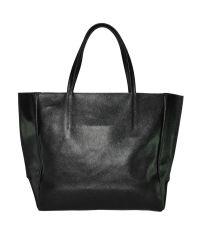 Женская сумка из сафьяновой кожи Сохо на молнии черная