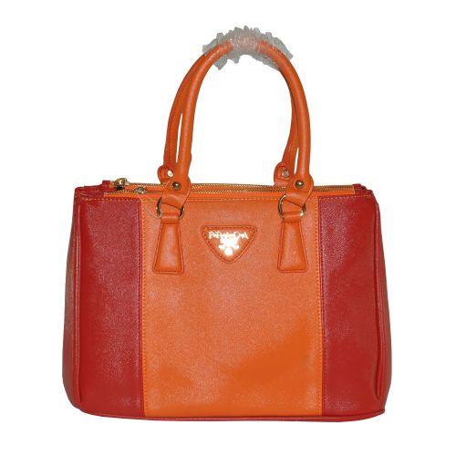 Женская сумка Twocolor красная с оранжевым