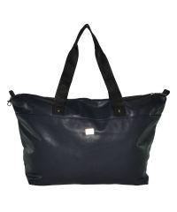 Спортивная сумка трапециевидная гладкая синяя